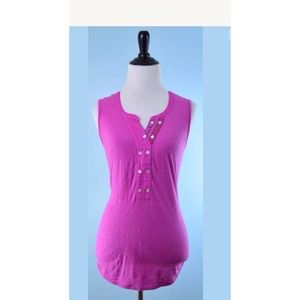 PURE AND GOOD Purple Pink Tunic Top XS